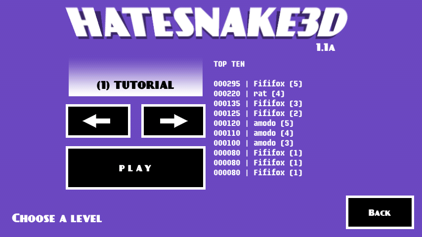 HATESNAKE3D- screenshot