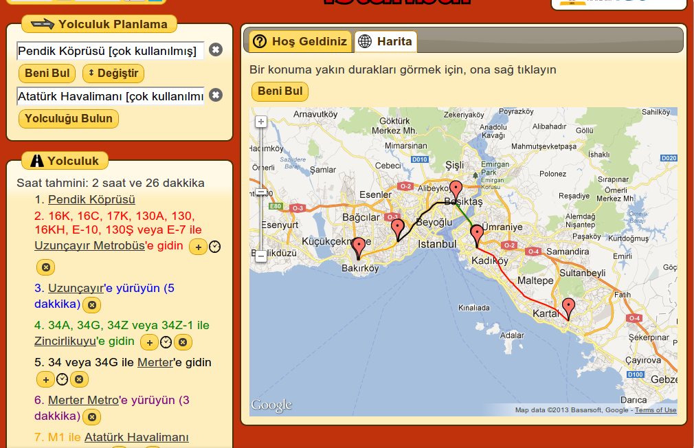 Turkey Journey Planner- screenshot
