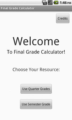 Final Grade Calculator