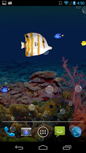 Aquarium LWP - screenshot thumbnail