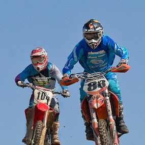 Sky high at Wakes Colne Motocrass by Dave Byford - Sports & Fitness Motorsports ( england, motocross, motorbike, wakes colne, motorcycle, motorsport )