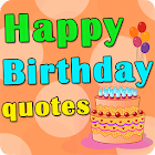 Happy Birthday quotes icon