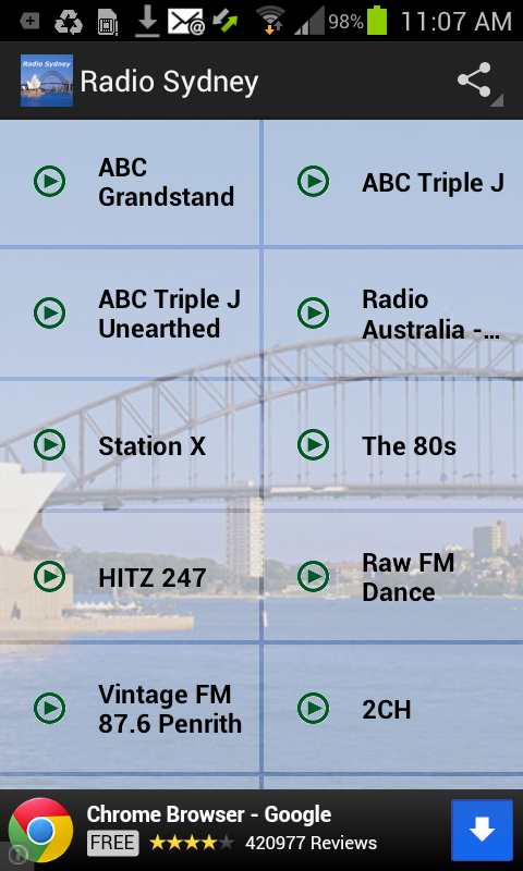 Radio Sydney - screenshot