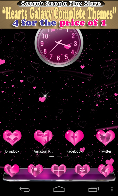 GO SMS Cute Pink Diamond Theme - screenshot
