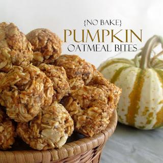 No Bake Pumpkin Oatmeal Bites