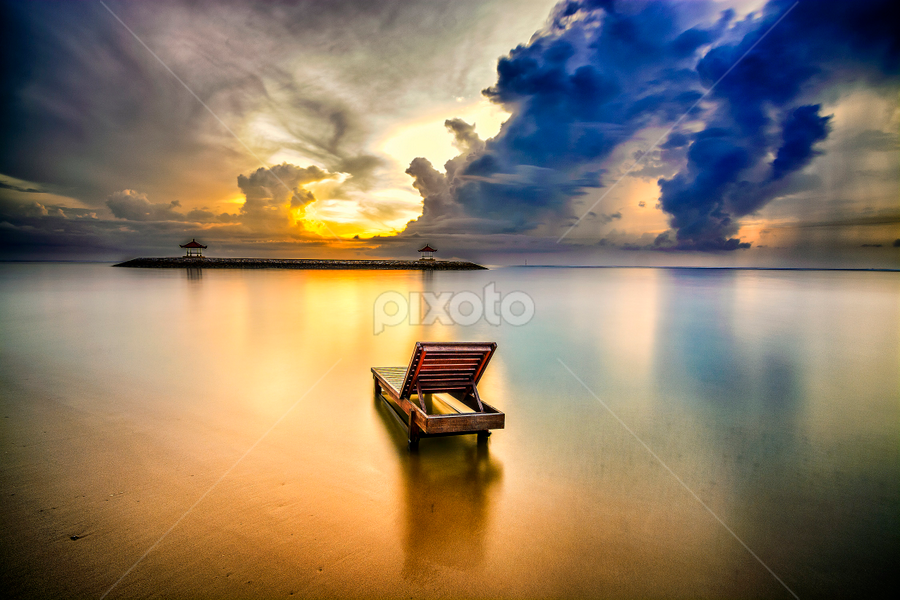 looking to the future by Shenz Senichi Kunisada - Landscapes Waterscapes ( Chair, Chairs, Sitting,  )