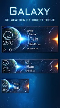 Galaxy Theme GO Weather EX