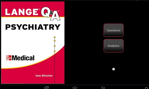 Psychiatry LANGE Q&A - screenshot thumbnail