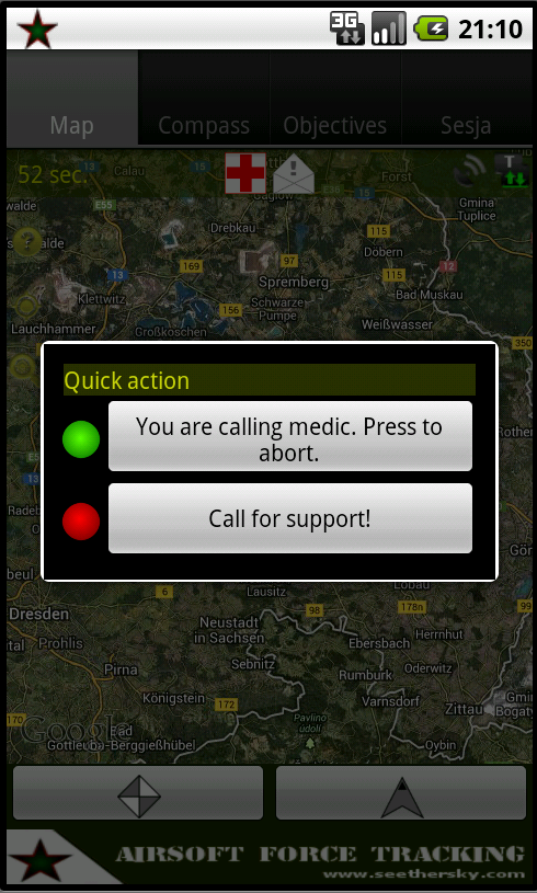 Airsoft Force Tracking - screenshot