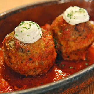 Ricotta-Filled Meatballs.
