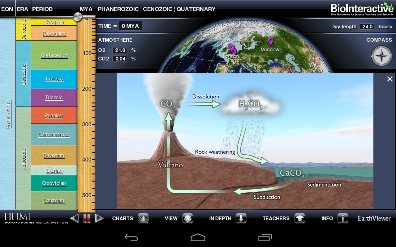 BioInteractive EarthViewer- screenshot