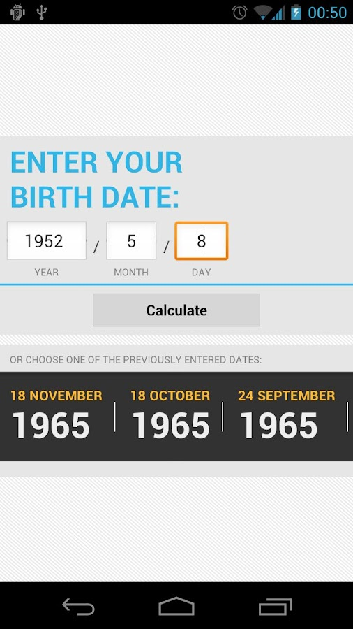 Life Calculator - screenshot