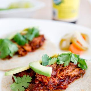 Braised Chicken Tacos.