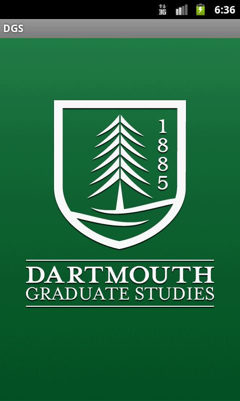 Dartmouth Graduate Studies- screenshot