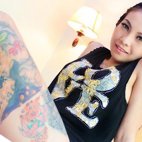 Inked by Ryan Lemil Escarpe - People Portraits of Women ( love, boudoir, cebu photographers, filipina, tattoo, women, ink )