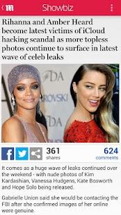 Daily Mail Online - screenshot thumbnail