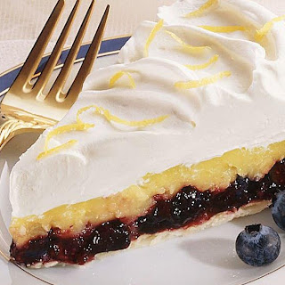 Pineapple-Blueberry Cream Tart.