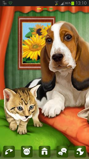 GOランチャーEXのテーマ犬猫