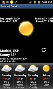 Rings Digital Weather Clock- screenshot thumbnail