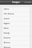 Screenshot of Raagas