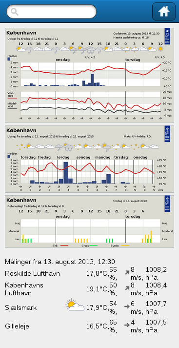 DMI Weather - screenshot
