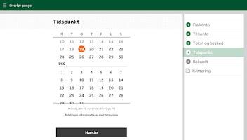 Screenshot of Jyske Mobilbank