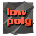 Low poly icon theme icon