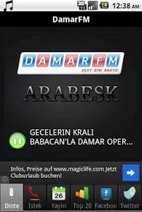 DamarFm Android Radyo - screenshot thumbnail