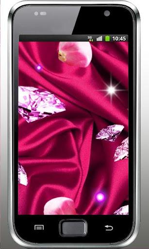 Diamonds Pink 3D LiveWallpaper