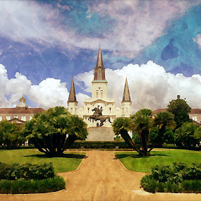 New Orleans by Tim Nichols - Digital Art Places ( new orleans, watercolor )