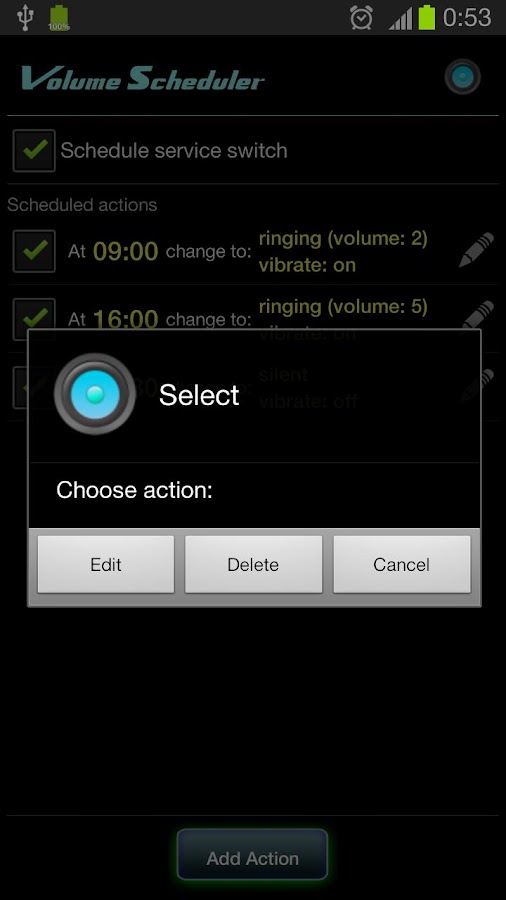 Volume Scheduler- screenshot