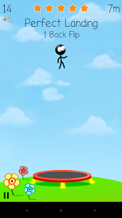 Trampoline Man (Stickman Game) - náhled