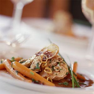 Chicken and Baby Carrots with Lemon and Chives.