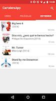 Screenshot of CarteleraApp Cine
