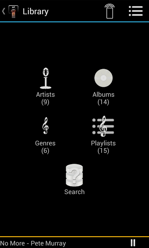 Music Remote Control - screenshot