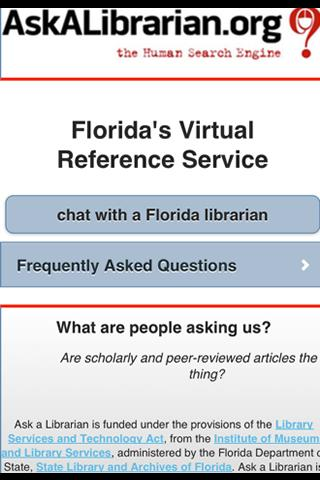 Ask a Librarian  App 1.2.0- screenshot
