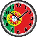 Portugal Flag Analog Clock logo