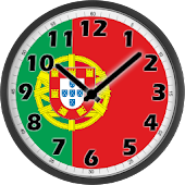 Portugal Flag Analog Clock