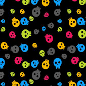 Colorful Skulls Theme