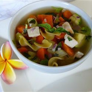 Chicken Vegetable and Pasta Soup.