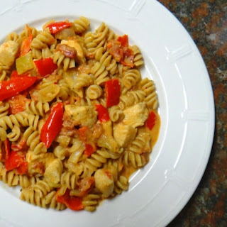 Healthy Creamy Cajun Chicken Pasta.