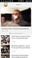 Screenshot of NOLA.com: Saints News