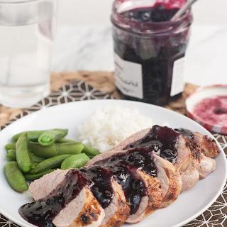 Pork Tenderloin with Spicy Blueberry Sauce