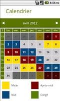 Screenshot of Poste Calendar