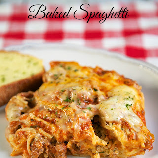 The Best Baked Spaghetti.