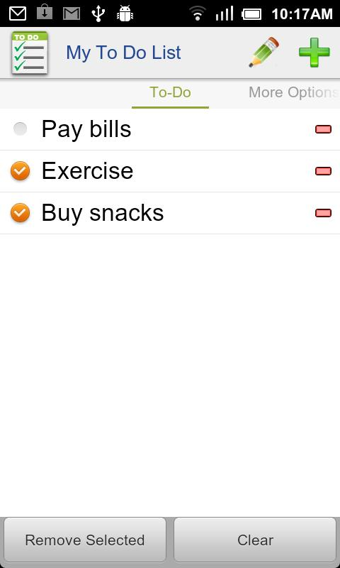 My To Do List- screenshot