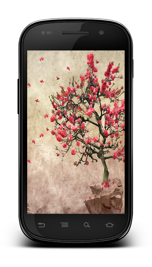 Galaxy S4 Leaf Lonely Tree LWP - screenshot
