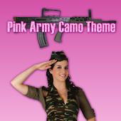 GO SMS PRO Pink Army Camo
