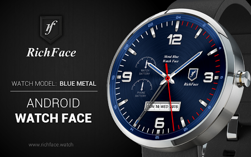 Blue Metal Watch Face