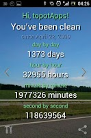 Screenshot of CleanTime Counter